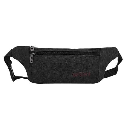 4460d8cb46bb Amazon.com : Fanny Pack Waist Bag, Unisex Zipper Canvas Travel Waist ...