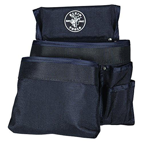Klein Tools 5701 PowerLine 8-Pocket Tool Pouch, Black Nylon