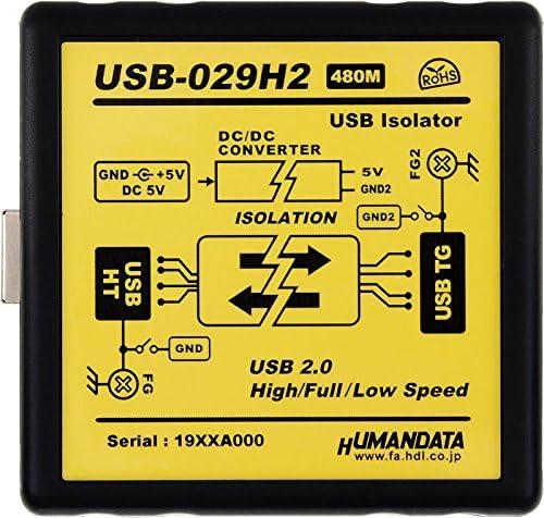 High Speed(480Mbps)対応 USB2.0アイソレータ・工業仕様(USB-029H2)