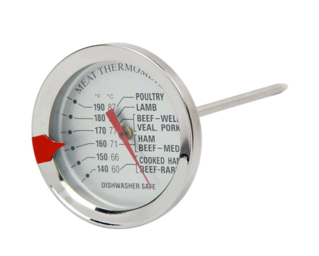 Kitchen Meat Thermometer Stainless Steel Case And Probe
