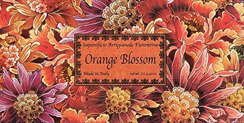 Saponificio Artigianale Fiorentino Orange Blossom 3 X 4.40 Oz. Soap Set From Italy (Bronnley Box)