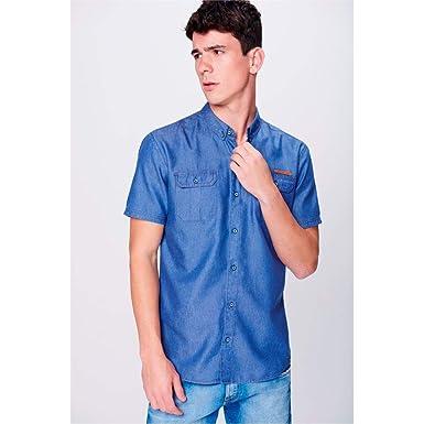 617ceca3fa Camisa Jeans de Manga Curta Masculina: Amazon.com.br: Amazon Moda