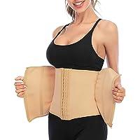 DODOING Kvinnor bantning midja tränare bälte för viktminskning dragkedja midjetrimmer cincher bälte svett…