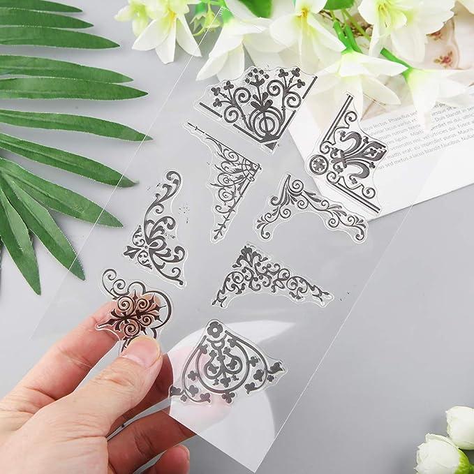 Losping Corner scrapbooking album fotografici decorativi per fai da te regali fatti a mano goffratura timbro in silicone trasparente biglietti