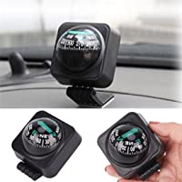 Jm Universal Vehicle Boat Car Truck Ball Navigation Compass ABS Black Color 1 Piece -02