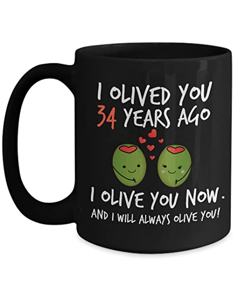 Amazon 34th Wedding Anniversary Gifts For Him I Olived You