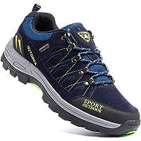 Zapatillas Trekking Hombre Antideslizantes Zapatos de Senderismo Transpirable Botas Montaña Bajas al Aire Libre Negro…