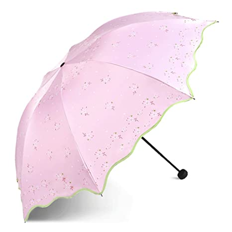 Color : C WMS Sun Umbrella Sun Protection UV Three Fold Umbrellas