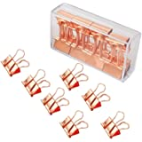Binder Clips, YIGO 19MM Paper Clips Binder Clips Clamp for Office School Supplies (16pcs Rose Gold)