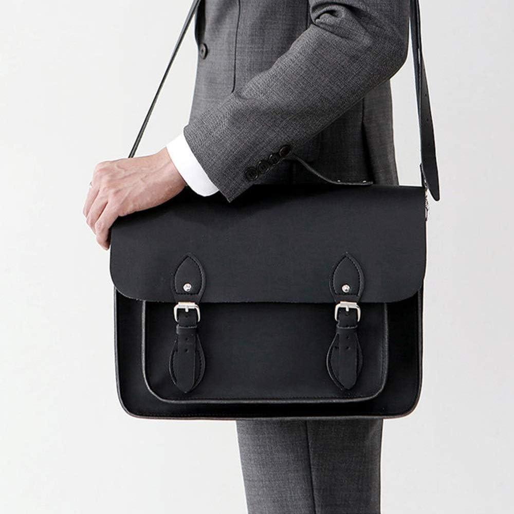 Color : Black, Size : 351125cm KCXUT Briefcase Multifunction Vintage Briefcase Mens Business Briefcase Handbags Removable Shoulder Strap Backpack Suitable for Outing Business Laptop Bags