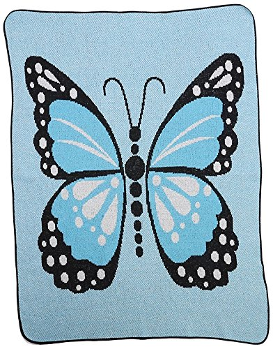 Green 3 Butterfly Kisses Throw Blanket, Blue - Butterfly Kisses Gift