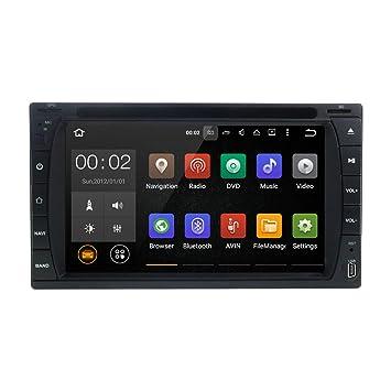 Bluetooth autostereo Android 7.1 coche Radio 173x98 mm Universal GPS coche Multimedia reproductor de DVD con