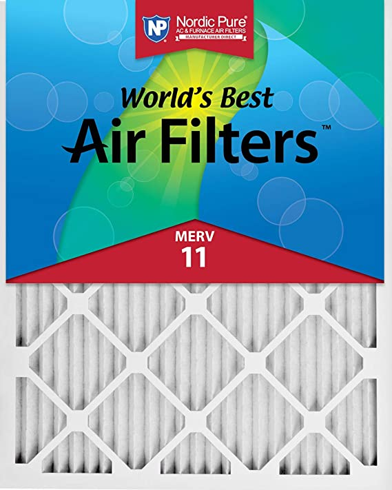 Nordic Pure 20x25x1 MPR 1000 Pleated Micro Allergen Replacement AC Furnace Air Filters 1 Pack