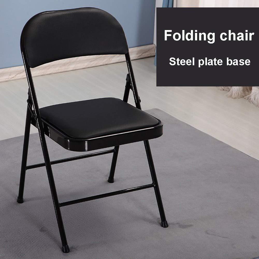 Lljin Super Load-Bearing Backrest Folding Chair Steel Plate Base Leisure Office Chair