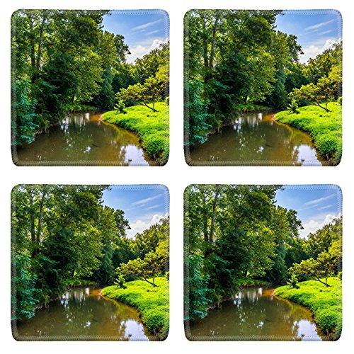 Msd Square Coasters Non Slip Natural Rubber Desk Coasters Design 25063192 View Of Codorus Creek In York County Pennsylvania