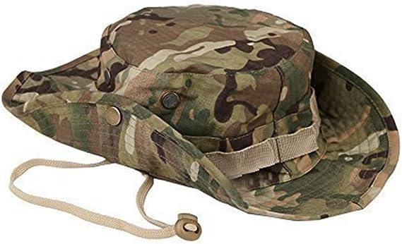 Leisial Sombrero Estampado De Camuflaje del Ejército de ala Ancha ...