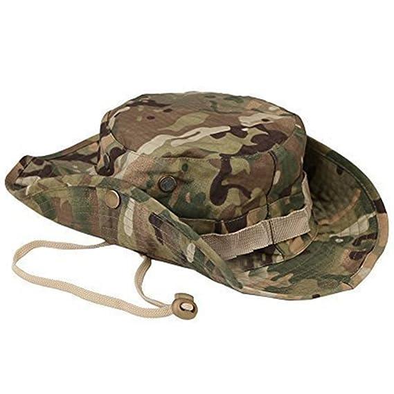 Leisial Sombrero Estampado De Camuflaje Del Ejército de Ala Ancha Borde  Redondo Anti-UV Algodón Outdoor Acampada Senderismo Deporte al Aire Libre  Gorra ... 9f1842d83e0