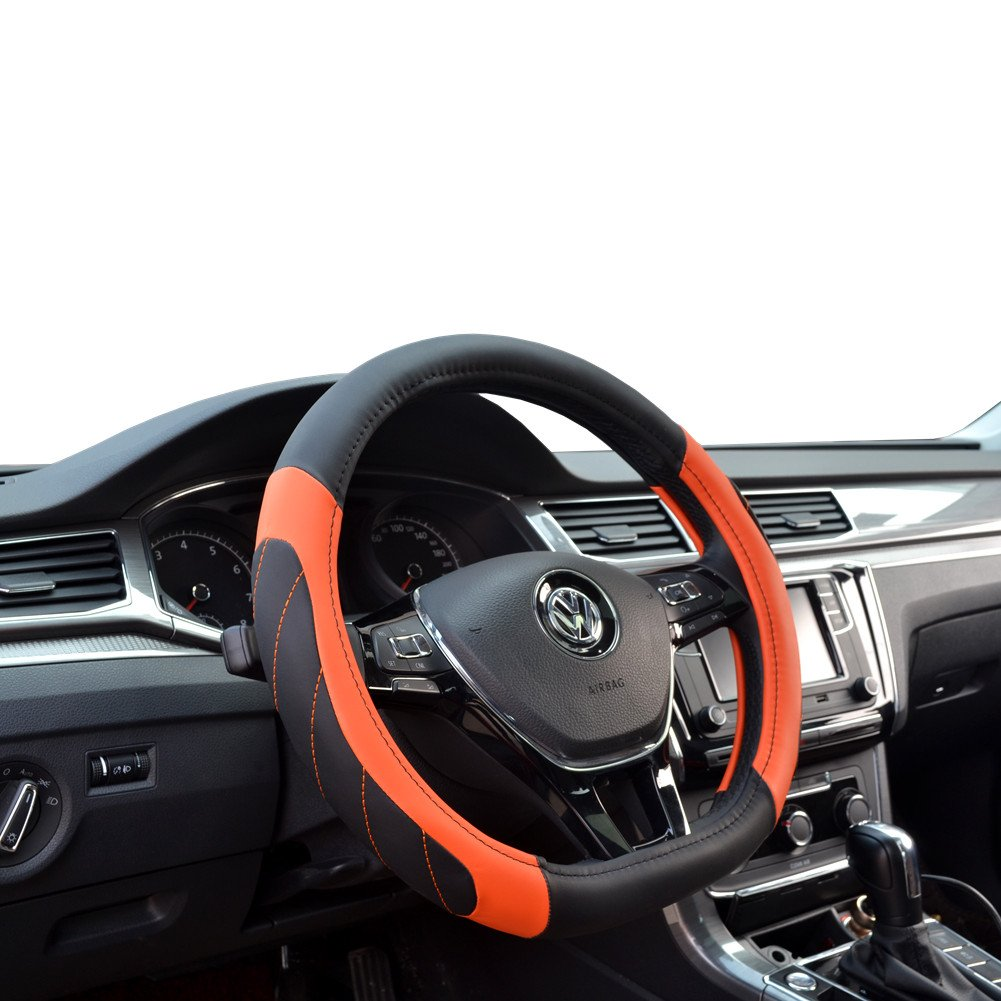 Labellevie Tipo D Funda para volante Cubierta del Volante de Cuero del Microfibra 37-39cm