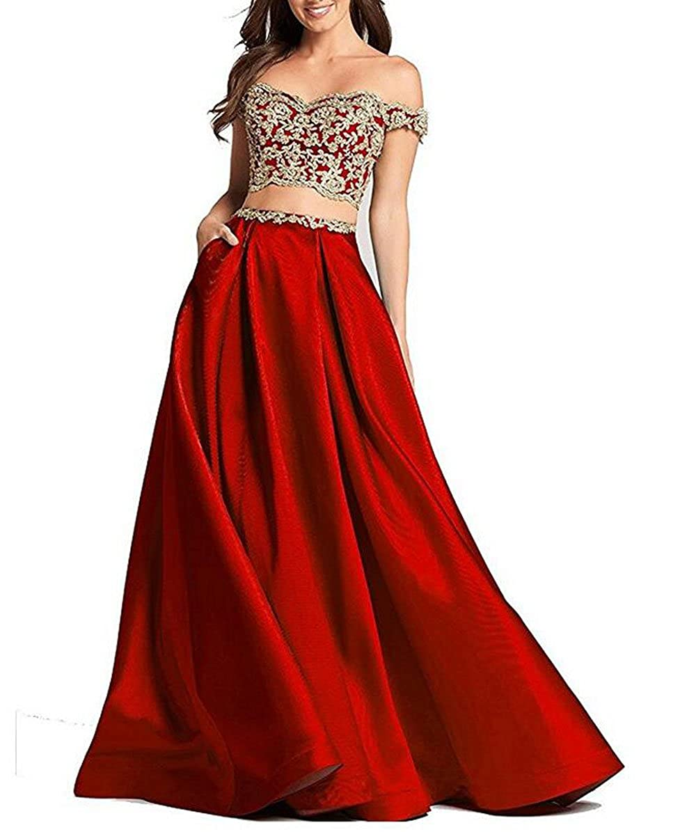 b9cc0fab4cf95 The Peachess Women Long A Line Two Piece Prom Dress Sleeveless Elegant Evening  Gowns: Amazon.co.uk: Clothing