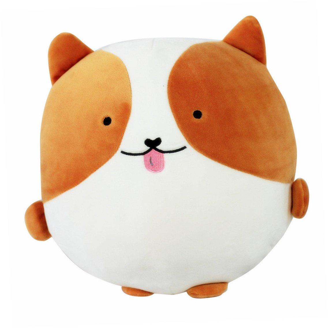 Tansozer 12''x10.6'' Soft Dog Plush Pillow Throw Cushion Animals Stuffed Toys