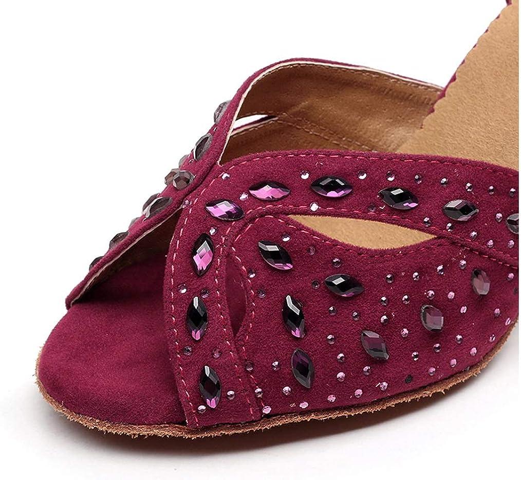 Scarpe da Ballo Latine, Donna, Scarpe Donna Eleganti Zapatos Baile Latinos Mujer Scarpe Tango Red 7Mscjo