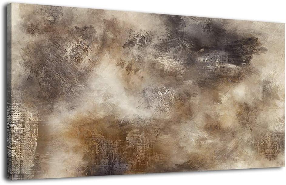 """Gran marrón Abstracto rectángulos Lienzo Arte Imagen 40 /"""""""