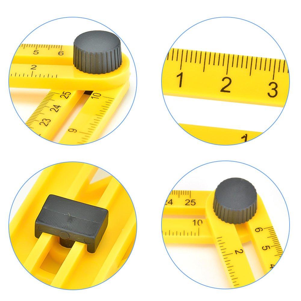 GYMAN Multi-Angle Measuring Ruler Angle Izer Template Tool for Handyman Builders Craftsman DIY-ER by GYMAN (Image #6)