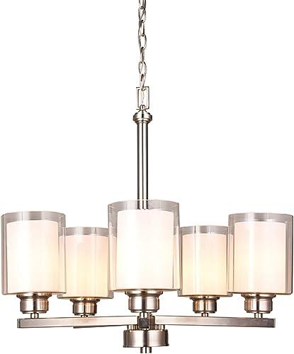 Design House 567198 Oslo 5 Light Chandelier, Satin Nickel