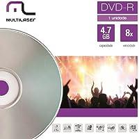 Mídia DVD-R Velocidade, Multilaser, DV018