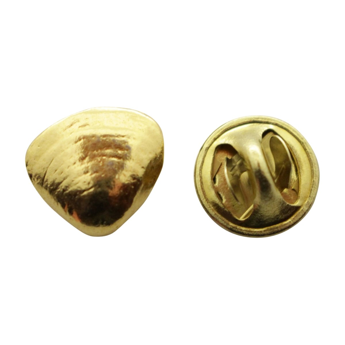 Clam Mini Pin ~ 24K Gold ~ Miniature Lapel Pin ~ Sarah's Treats & Treasures