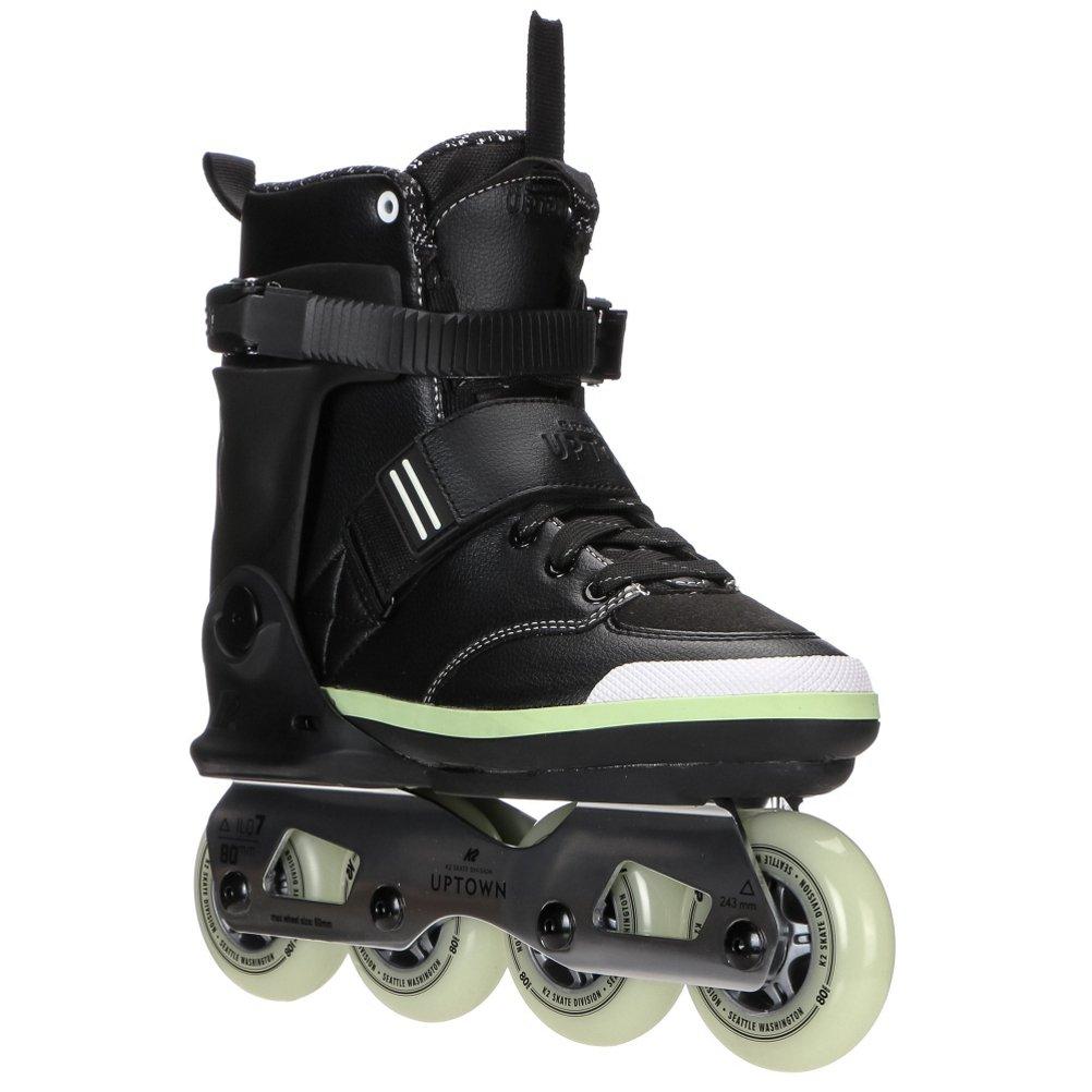 K2 Skate Uptown Inline Skates, Black/Silver/Lime, 7.5