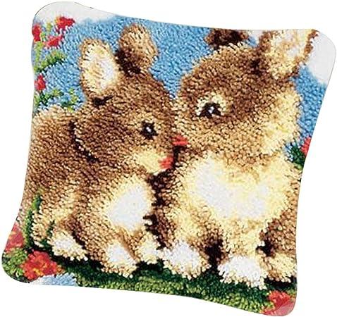 Knüpfkissen zum Selberknüpfen, 2er Set Knüpfset Kissen für Erwachsene