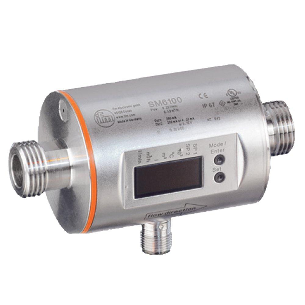 IFM Efector SM6004 Magnetic-Inductive Flow Meter, 0.1 to 25 l/min, -20 to 80 degrees C Measuring Range