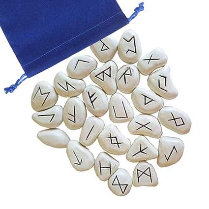 Amazon.com: Anya Nana - Juego de runa de resina blanca con ...