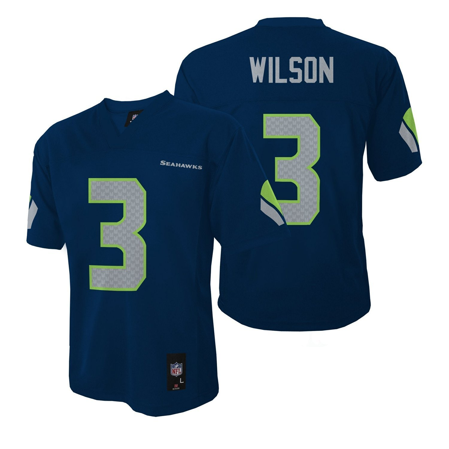 8d07b0340 Amazon.com   Outerstuff Russell Wilson Seattle Seahawks Youth Navy Jersey    Sports   Outdoors