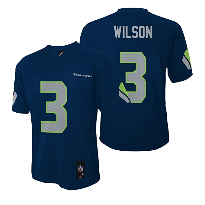 f66df495 Outerstuff Russell Wilson Seattle Seahawks Youth Navy Jersey