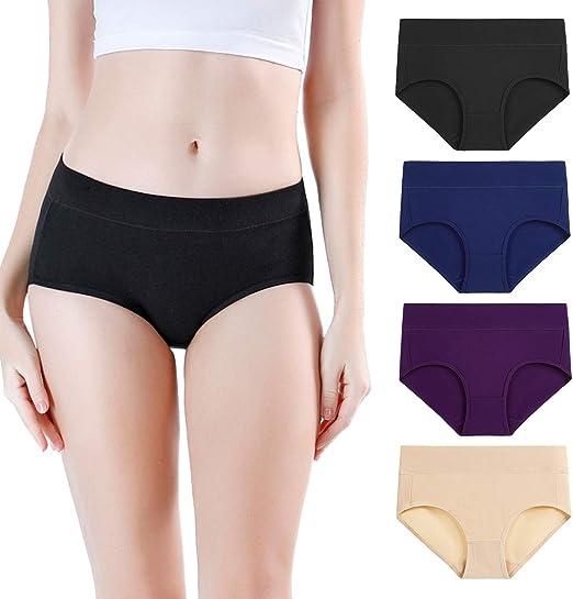 wirarpa Pantys Damen Baumwolle Unterhosen Frauen Unterw/äsche Elastan Panties