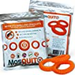 Mosquito Repellent Bracelets 10 pack - Safe, Natural, Waterproof Wristband with Citronella Lemongrass Geraniol - 100% Pure Natural Essential Oil