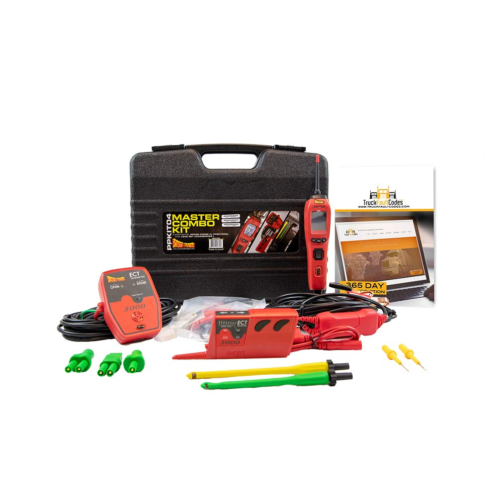 Diesel Laptops Power Probe IV Master Combo Kit Bundled with 12-Months of Truck Fault Codes