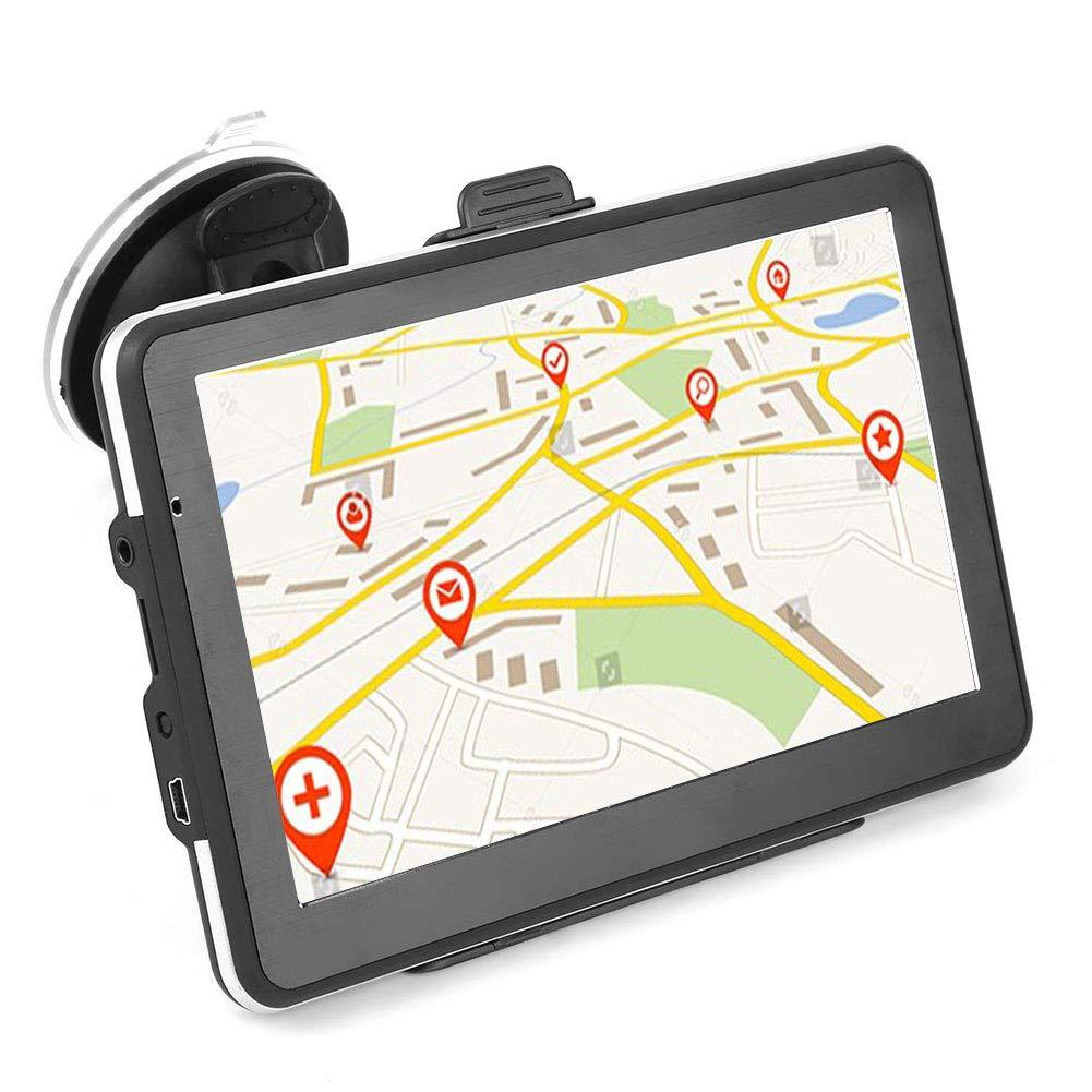 EBTOOLS Navegaci/ón GPS 7 Pulgadas HD Pantalla T/áctil Port/átil Navegador de Coche 256MB 8GB FM con Actualizaciones de Mapas