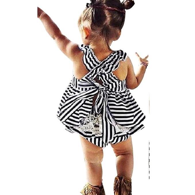 Bekleidung Longra Baby Mädchen Sommer Trägerkleid Infant Outfit ...
