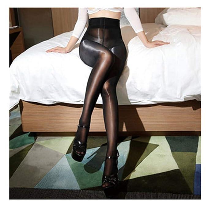 de27d79e687 8D Oil Shiny Tights For Women Lingerie Hot Ultrathin Pantyhose Sheer Nylon  Stockings Black One Size