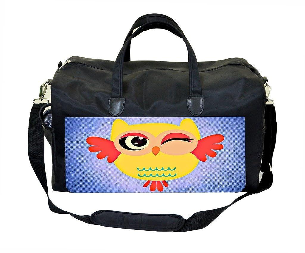 Yellow Cute Owl Weekender Bag