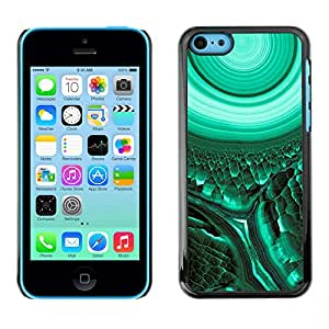TopCaseStore / la caja del caucho duro de la cubierta de protección de la piel - Cell Biology Green Teal Mysterious - Apple iPhone 5C