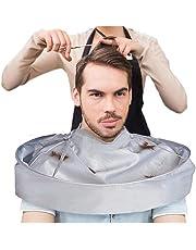 DIVISTAR Capa de barbero, Capa de Corte de Pelo, Paraguas de peluquería, peluquería, peluquería y estilistas del hogar (Gris Plata)