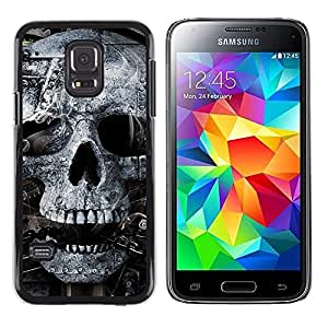 Paccase / Dura PC Caso Funda Carcasa de Protección para - Skull Mummy Egypt Pharaoh Black White - Samsung Galaxy S5 Mini, SM-G800, NOT S5 REGULAR!