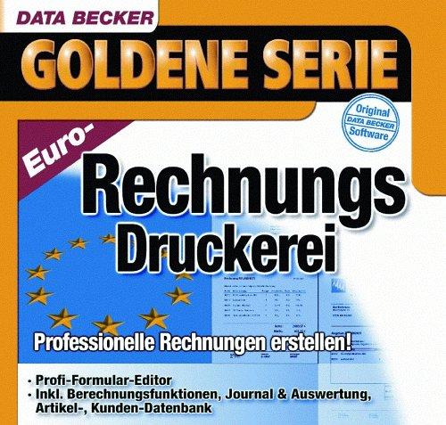 Euro Rechnungs Druckerei 1 Cd Rom Professionelle Rechnungen