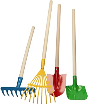 Herramientas de jardín pala, leafrake, pala y rastrillo 4 en uno ...