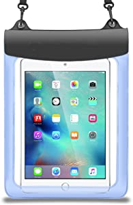 Premium Blue Waterproof Pouch Bag Case for iPad Pro 10.5 / Huawei Mediapad M3 Lite 10.1 / Lenovo Tab 4 10 Plus / New Yoga Tab 3 Pro 10 / Lenovo Miix 320 / Samsung Galaxy Tab S3 / Galaxy Book 10.6