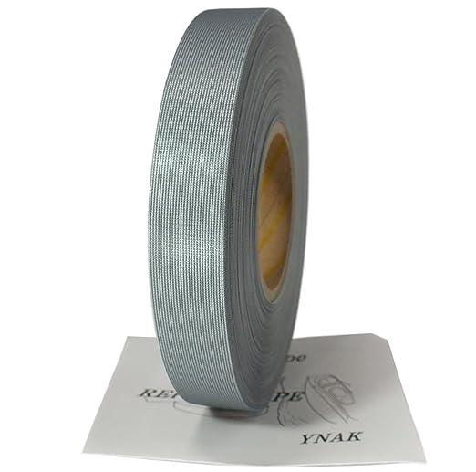 YNAKテントザックタープシートレインウェアー補修メンテナンス用強力トリコット表面布状アイロン式3レイヤー適合説明書付きシームテープ幅20mm×長さ30m(グレー)(ライトグレー)(ブラック)の画像